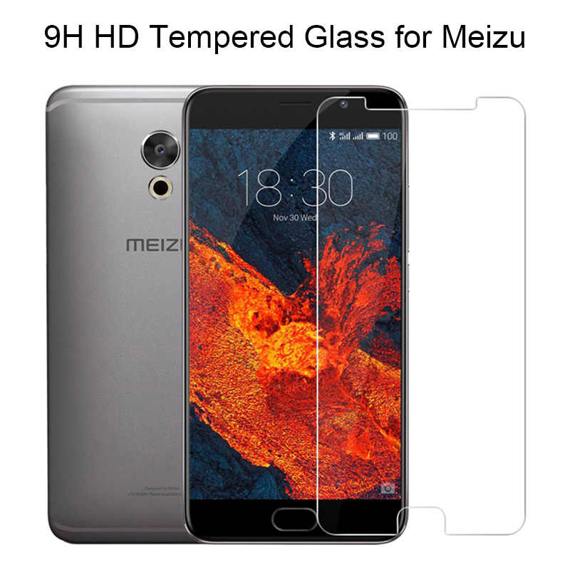 2 Pcs Tempered Glass untuk Meizu PRO 7 Plus Pro 6 5 MX6 MX5 MX4 HD Kaca Jelas Layar Telepon pelindung untuk Meizu Note 9 8 V8 X8 Film