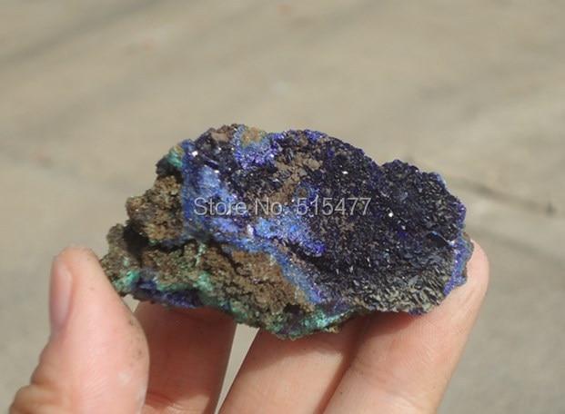 Special Gem Azurite Crystal Vug on Matrix Mineral Specimen 40G