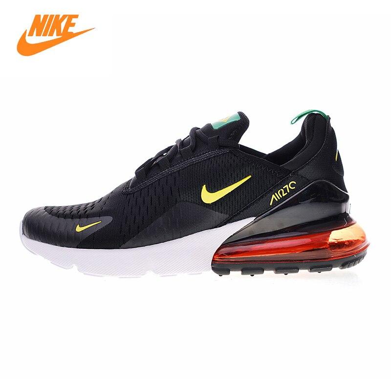 Nike Air Max 270 Chaussures de Course des Hommes, noir et Jaune/rouge, choc Absorbant Respirant Léger AH8050 112 AH8050 111
