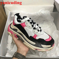 2018 Ins Hot Shoes Woman Front Lace Up Women Sneakers Mixed Color Sapato Feminino Round Toe Women Shoes Outdoor Casual Shoes