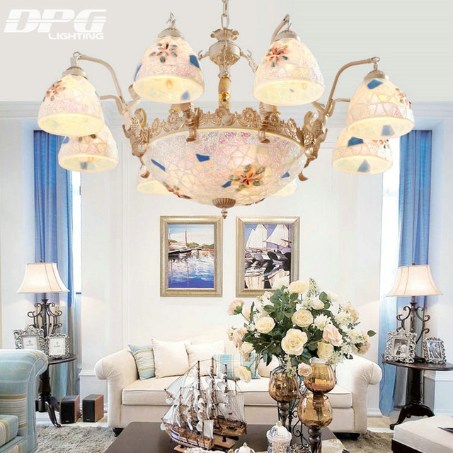 Tiffany chandelier lighting style antique lamp sconce gold tiffany tiffany chandelier lighting style antique lamp sconce gold tiffany light conch glass for bedroom living room mozeypictures Image collections