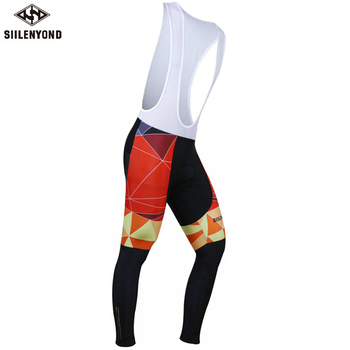 Siilenyond 2019 Winter Keep Warm Cycling Bib Pants With 3D Gel Padded Thermal MTB Bike Bib Tights Comfortable Cycling Trousers 1