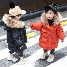 Coat Kids Jacket Winter Clothing Outerwear Hooded Girl Autumn Baby-Boys Children Warm