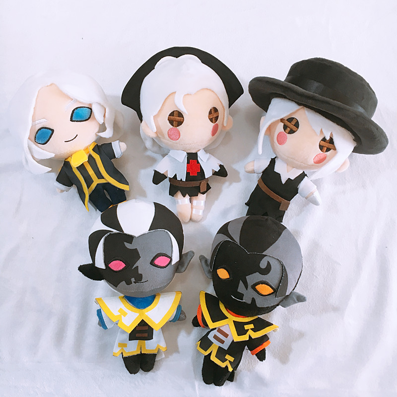 Anime Game Doll Identity V Doctor Emily Dyer Gardener Emma Woods Blind Girl Cosplay Prop Toy Plush Stuffed Cartoon Doll Gifts
