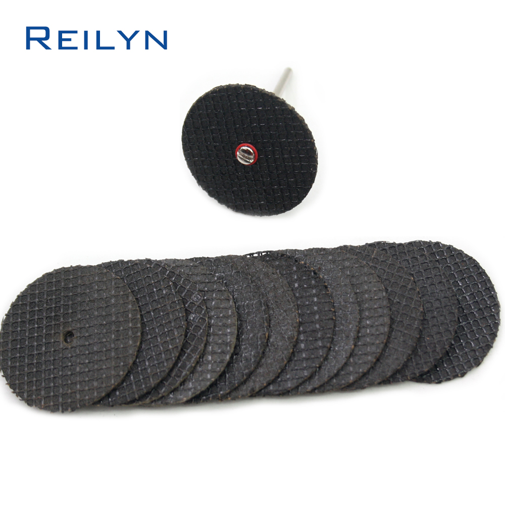 Reilyn 32mm/38mm Black Net Grained Cutter Metal Cutting Blades Dremel/Electric Grinder Saw Bit Cutting Metalic Materials