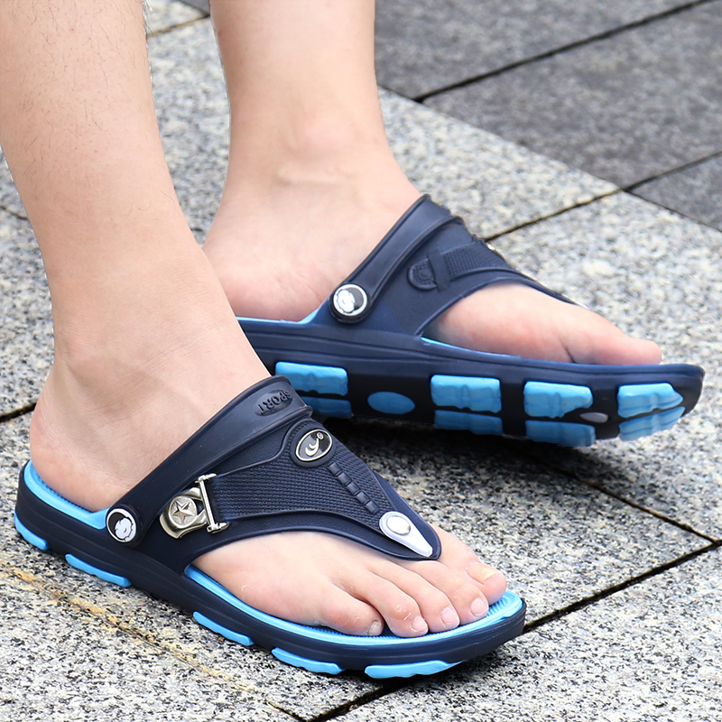 Summer Jelly Shoes Men Flip Flops Beach Sandals Men Light Sandalias Hombre Outdoor Summer Chanclas men croc beach slippers praia