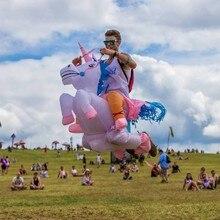 HOT Adult Halloween Trajes Infláveis Trajes Unicorn Cavalo de Passeio no Céu Ar Soprando Até Roupas Trajes Engraçados