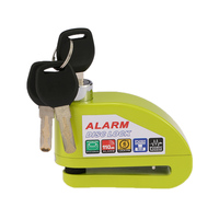 Motorcycle Anti Theft Alarm Lock Green Color Scooter Bicycle Disc Brake Locks