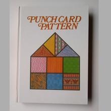 אח מכונת סריגה סוודר DIY נפח Punchcard דפוס ספר 319 דפים