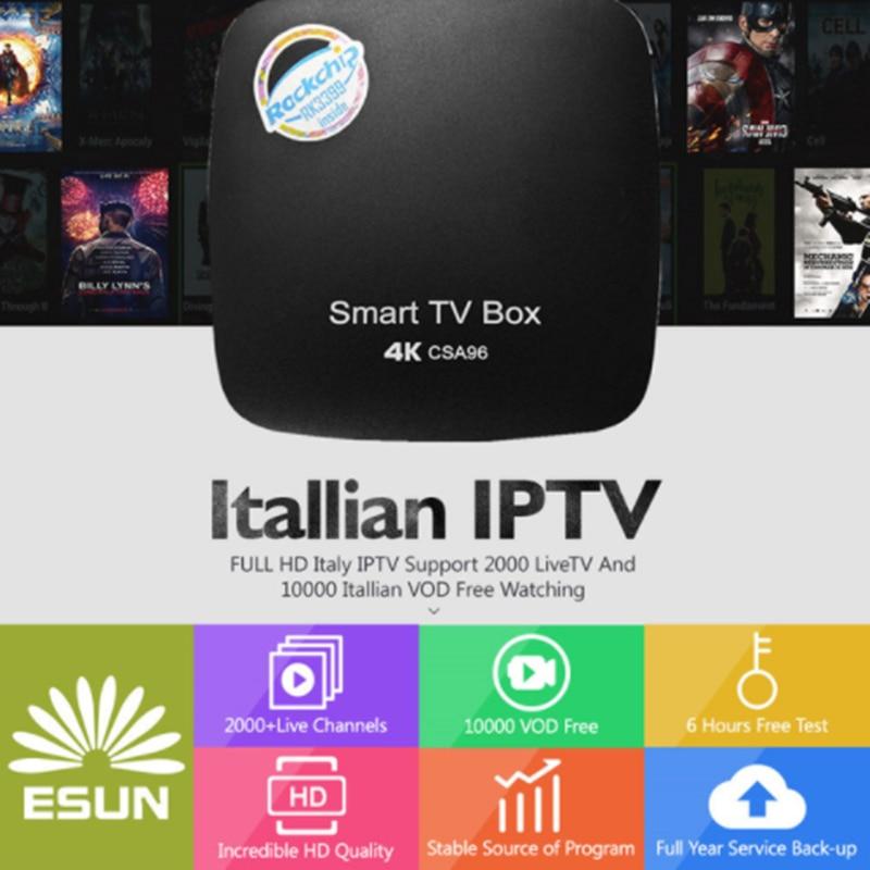 Tv Receivers Home Audio & Video Italy Iptv Csa96 Android 7.1 Iptv Box 4/32g Dual Cortex-a72 Italy Iptv Epg 4000+live+vod Configured Europe Albania Ex-yu Xxx