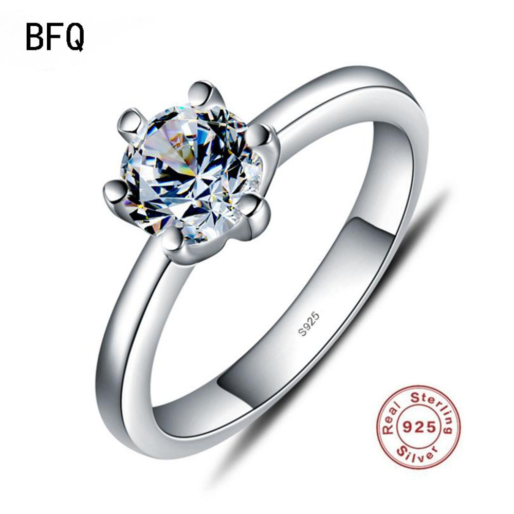 Anel Feminino Women Time-limited 2018 Bfq Hot Sale Offer Women's Classic 100% S925 Ring Engagement Gift Prom Fine Jewelry Rings