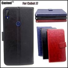 Casteel Classic Flight Series high quality PU skin leather case For Cubot J7 Case Cover Shield