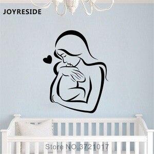 Joyestebe настенные наклейки для мамы и ребенка с сердечком, наклейки для семьи, виниловые наклейки для спальни, гостиной, интерьера, дизайн росп...