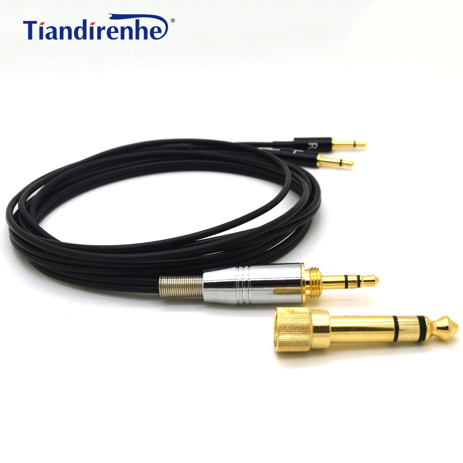 Sennheiser HD477 용 헤드폰 케이블 HD497 HD212 pro EH250 EH350 Audioquest Nightowl 용 헤드셋 6.35 / 3.5mm ~ 2.5mm