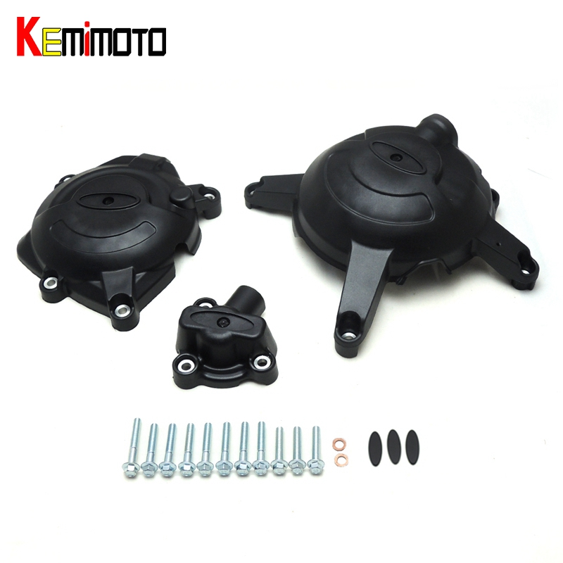KEMiMOTO For Yamaha YZF R25 YZF R3 MT 03 Racing Engine Cover Set Protector Guard For