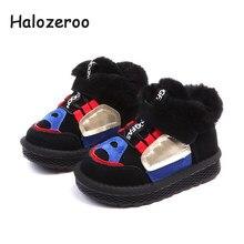 938b6ae4f2eee Halozeroo Nouvelle Hiver Bébé Fille Chaud Neige Bottes Bébé Chaussures  Souples Enfants Véritable Cheville En Cuir Bottes Marque .