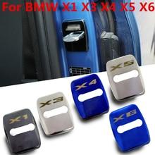 FLYJ 4 шт крышка дверного замка автомобиля анти защита от ржавчины Пряжка Обложка для BMW X1 X3 X4 X5 X6 F48 E84 E83 E53 F15 E70 F26 F16 E71 E72