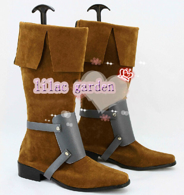 Free shipping Tangled Flynn Rider Cosplay shoes Rapunzel Prince Cosplay Boots Custom-made 1