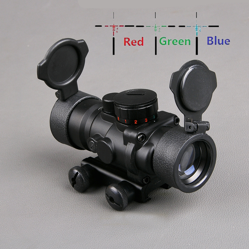 Bestsight 3 5X30 Tactical Optics Scope RGB Illuminated Hunting Scope Sniper Gear With 20mm Rail Mount