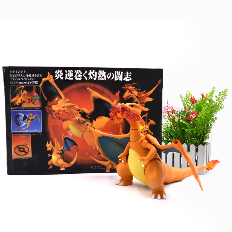 Anime Charizard Y Pikachu PVC figurine PVC Action Figure Collection Model Christmas Gift Toy 13 cm цена