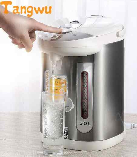 Livraison gratuite chauffage électrique bouteille d'eau en acier inoxydable rapide type hiver isolation thermique 5L bouilloires électriques