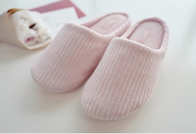 Verticale rose Femelle Gris Chaussures Bande Femmes Sol À De Mou Pantoufles Chambre Fond Hiver Antidérapant Coucher Maison wqfI7aF7C