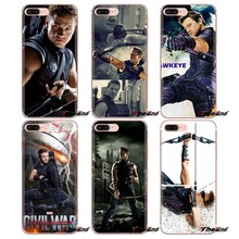 Transparent TPU Bag Case hawkeye clint barton the Avengers For iPod Touch Apple iPhone 4 4S 5 5S SE 5C 6 6S 7 8 X XR XS Plus MAX(China)
