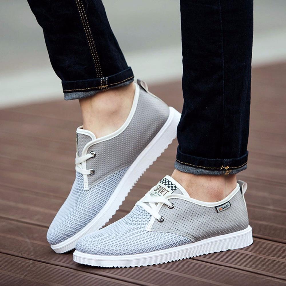 aa4da559d3730 ZJNNK offre spéciale hommes chaussures d'été respirant mâle chaussures  décontractées mode Chaussure Homme doux Zapatos Hombre été hommes chaussures  Cool ...