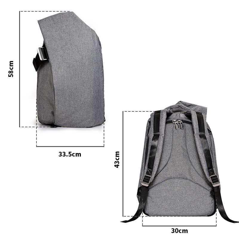 KALIDI moda su geçirmez laptop çantası sırt çantası 17 inç bilgisayar macbook çantası HP Dell dizüstü bilgisayar çantası okul çantası erkekler kadınlar için
