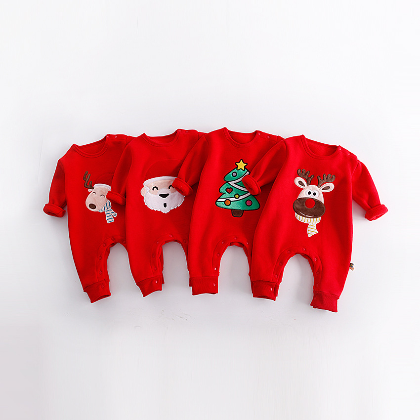 Newborn Clothes Christmas Baby Rompers Lovely Santa Claus Costume Kids Long Sleeve Winter Children Infant Clothing Set autumn winter baby rompers children clothing set newborn clothes bebes microfleece long sleeve girl clothing infant jumpsuits