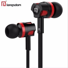 Original Langsdom JM26 3.5mm In-ear stereo Earphones Super Bass sound with mic for mobile phone iphone xiaomi