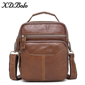 Image 5 - XDBOLO 2020 Bag Leather Shoulder Bag Single Strap Messenger Bag Solid Crossbody Bag for Mens Wholesale