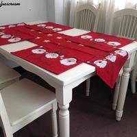 Рождественский лоза цветы Украшение стола Настольная дорожка гобелен скатерть столовый коврик подставки Новый год Украшение стола