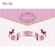 Yeele Baby Shower Princess Girl Pink New Life Crown Photography Backdrops Personalized Photographic Backgrounds For Photo Studio