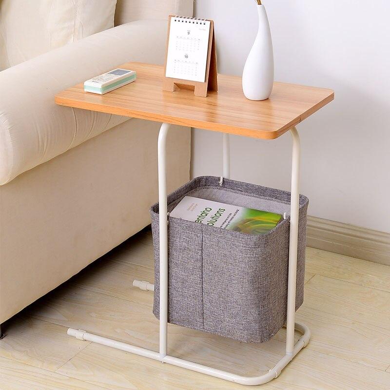 Table d'appoint en métal fer Table d'ordinateur petite Table de thé Table téléphonique