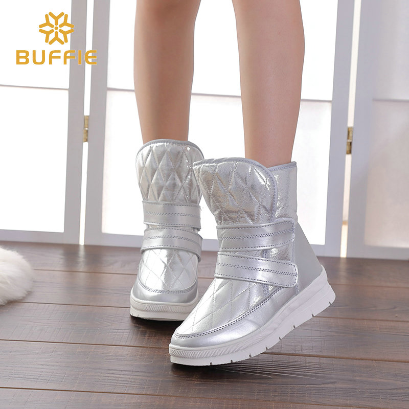 2018 autunno inverno donna stivali argento boot fibbia di stile di nuovo modo di esportazione più il formato 36 a 41 grande albero scarpa forte suole