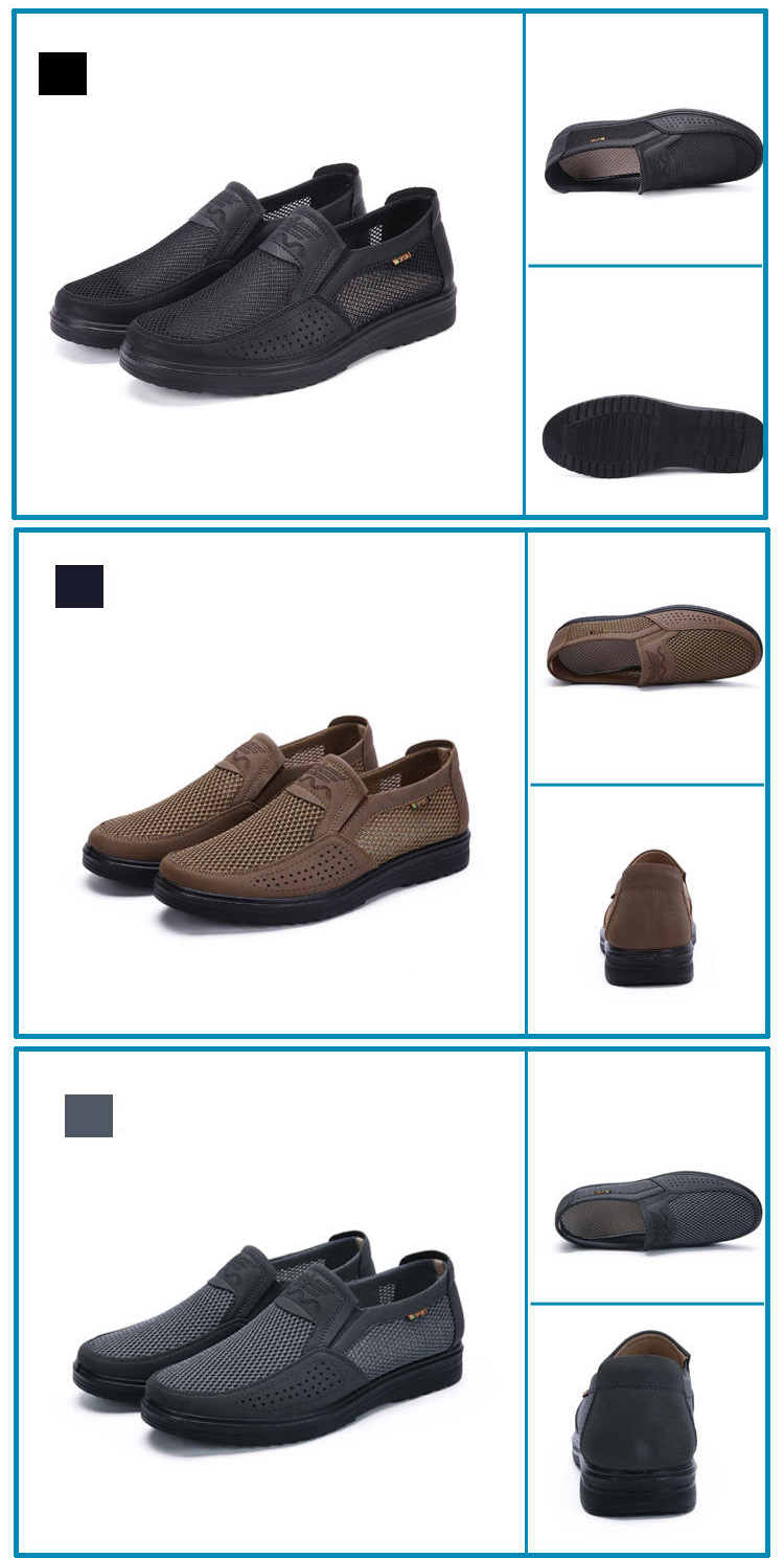 Merkmak 38-48 Men'S Casual Shoes Men Summer Style Mesh Flats For Men Loafer Creepers Casual High-End Shoes Very Comfortable sho
