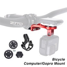 Bike Bicycle Computer Stem Extension Mount Holder with Gopro Camera Bracket Adapter For GARMIN Edge GPS Computer Bryton CATEYE