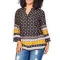 Botão Sexy Vintage Imprimir Camiseta Mulheres Camisa Chiffon Verão Tops de Culturas Senhoras Vestuário Americano Clube Vestir Roupas XXXL