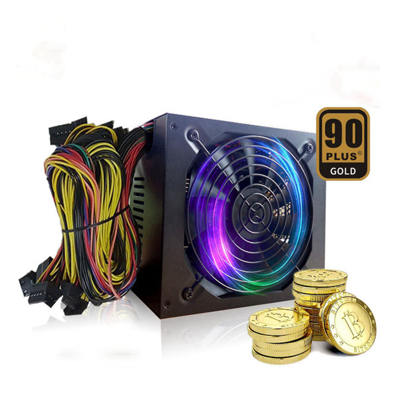 Eth PC Mining Rig Power Supply 1800W Monero Bitcoin Miner CryptoNote For RX 470 480 570 GTX 1060 1070 1080 6 Graphics Card
