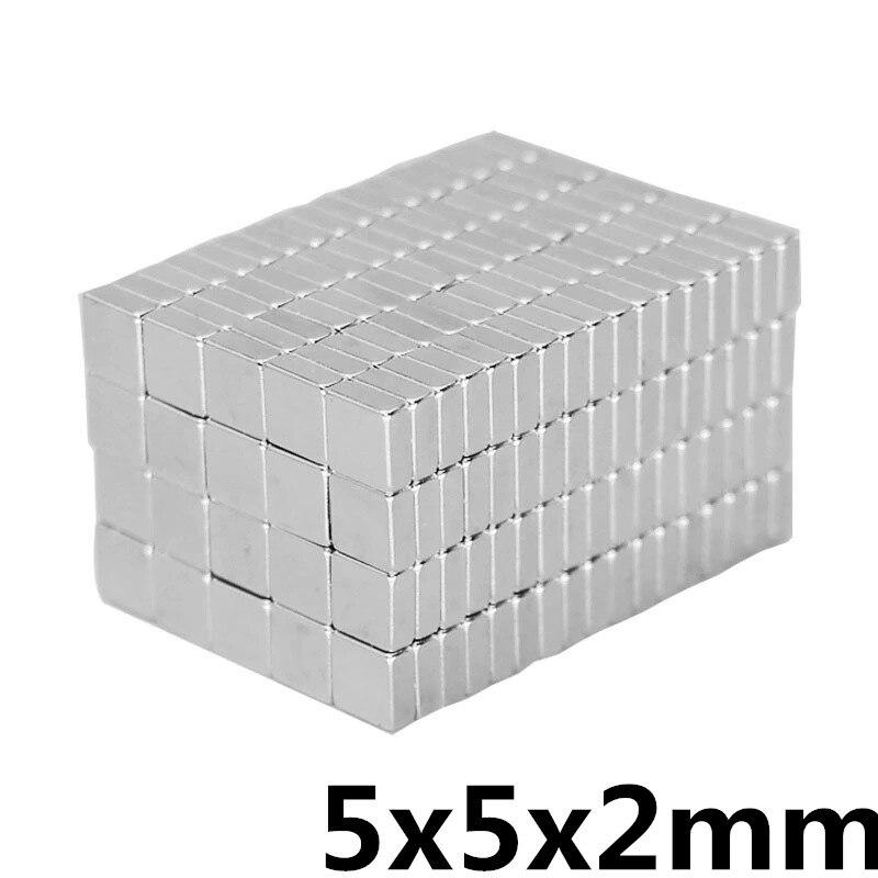 50pcs 5x5x2 Mm N35 Strong Square NdFeB Rare Earth Magnet 5*5*2 Mm Neodymium Magnets 5mm X 5mm X 2mm