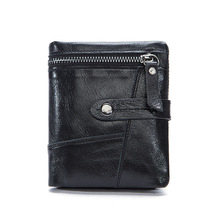 цена на Weduoduo New Men Wallets Male Purse Genuine Leather Wallet with Coin Pocket Short Credit Card Holder Wallets Men Leather Wallet