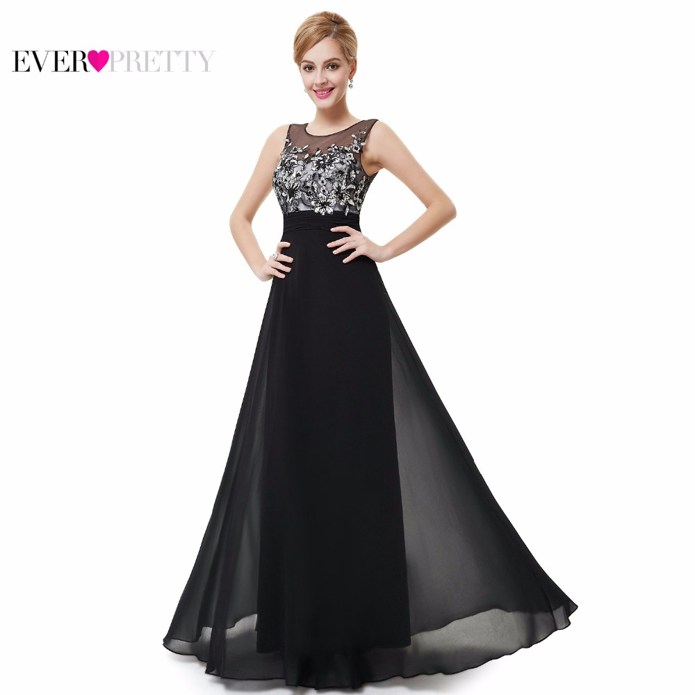 Elegant Long Black Lace Prom Dresses