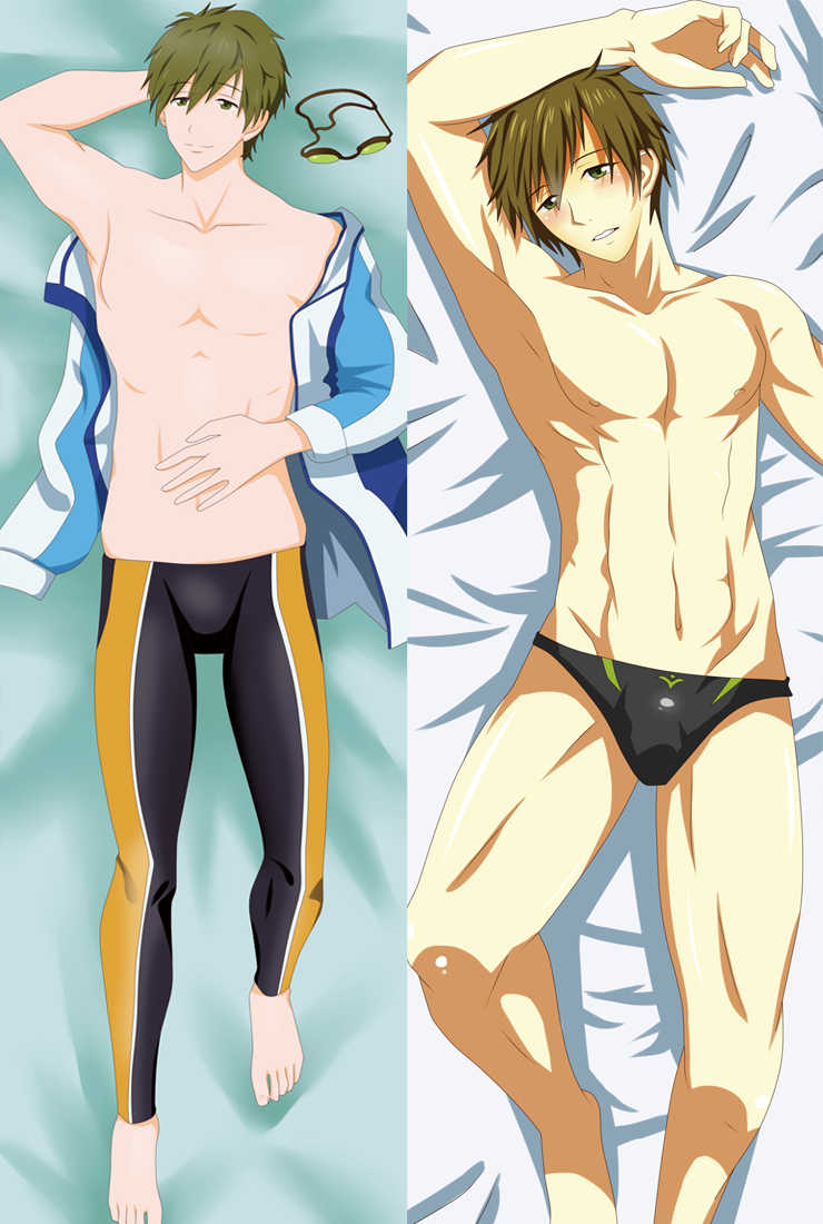 Rin Matsuoka Dakimakura  Anime Free! Hugging Body Pillow Case  Cover 150*50cm