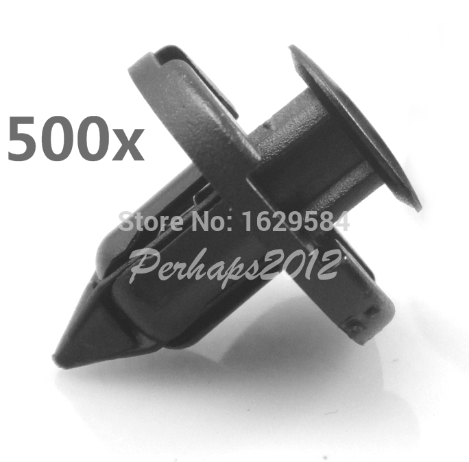 500x Black Nylon COWL BUMBER FENDER LINER CLIPS 01553 09321 for Maxima 300ZX 90044 68320 MR328954