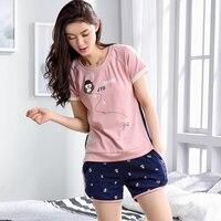 Women S Cotton Pajamas Pyjama Femme Animal Pajamas For Adults Summer 100 Cotton Short Sleeved Shorts