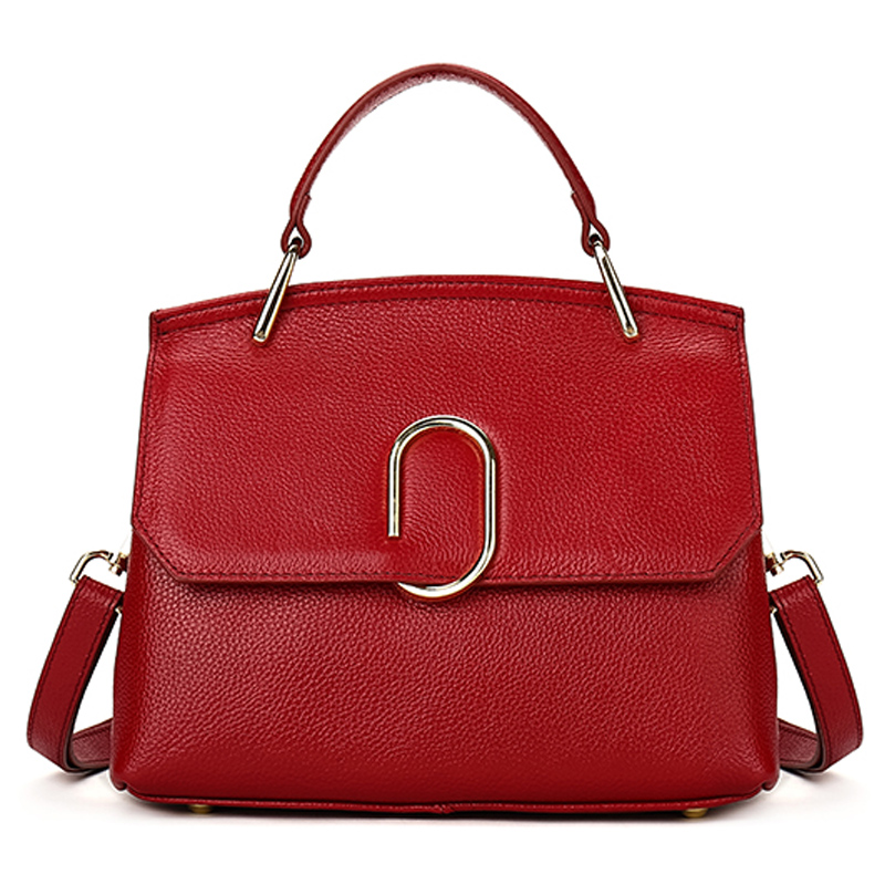Luxury Genuine Cow Leather Handbag for Woman High Quality Real Leather Shoulder Bag Fashion Business Women Handbag Shopping Bag 100% genuine leather make cow leather handbag shoulder bag shell bag middle aged women suitable for life shopping the best gift