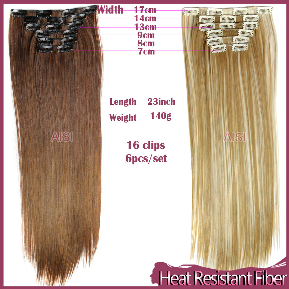 6pcsset 23inch 150g 16 clips in false hair styling synthetic 6pcsset 23inch 150g 16 clips in false hair styling synthetic straight clip in hair extensions heat resistant hair pad hairpiece on aliexpress alibaba pmusecretfo Image collections