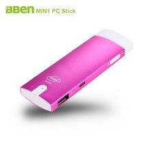 Бесплатная доставка Bben MN1 немой вентилятор Мини-ПК stick Окна и android двойной Системы Intel Z3735F четырехъядерных процессоров intel Bluetooth 4.0 Wi-Fi HDMI