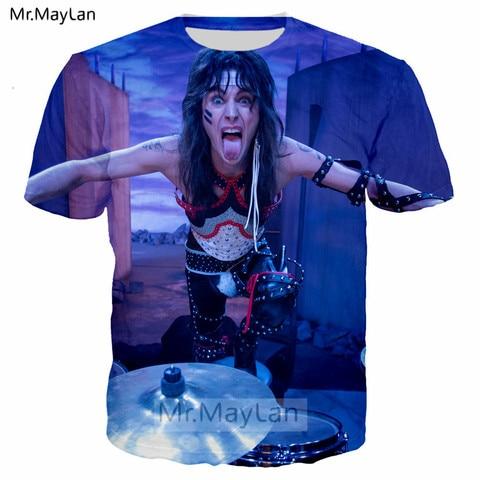 Pop Heavy Glam Metal Motley Crue n KISS Band 3D Print T shirt Men/women Hard Rock Streetwear T-shirt Man Tie Dye Tshirt Clothes Multan